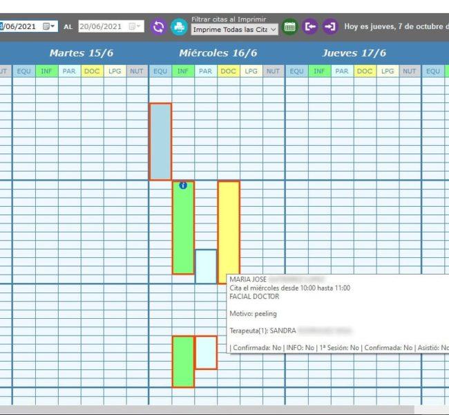 multiagenda semana software de gestion de clinicas de especialidades medicas